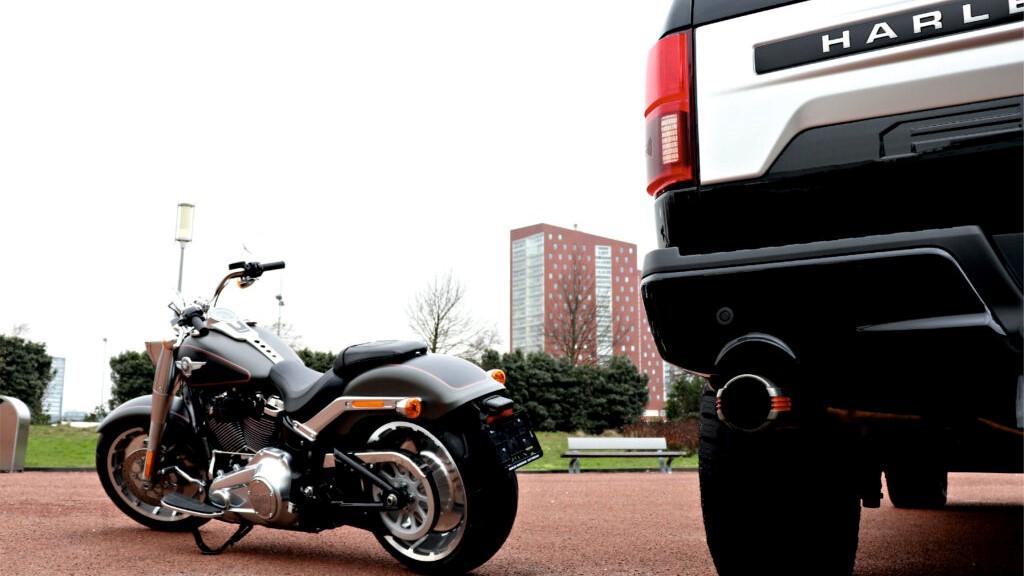 Frontale Harley Davidson moto e Truck Agate Black