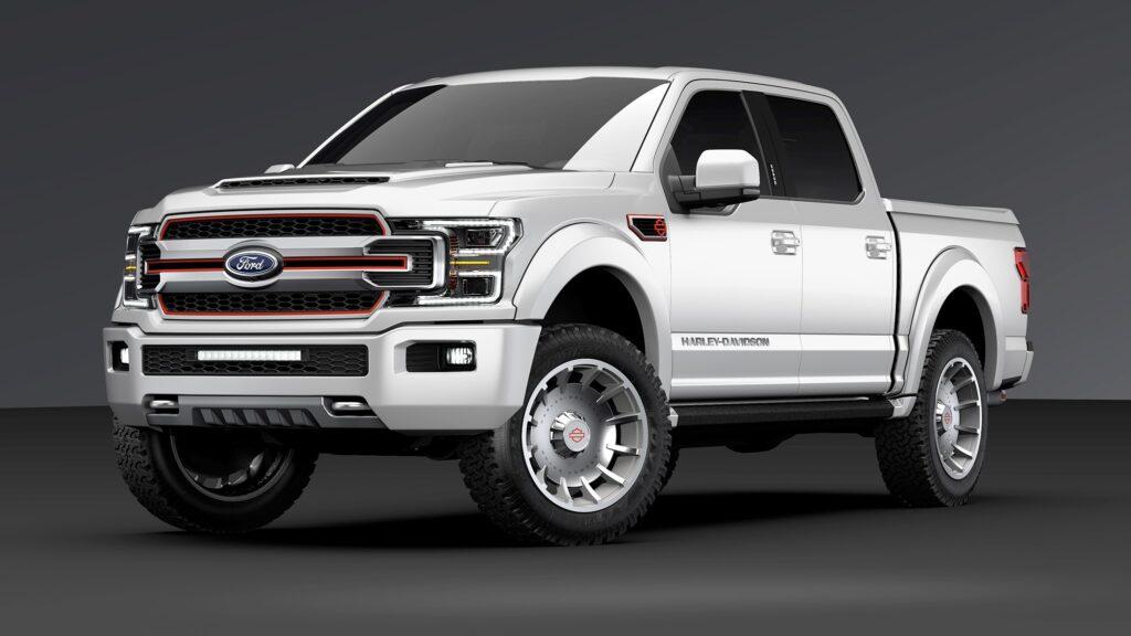 Harley Davidson Truck Platinum White con cerchi argento