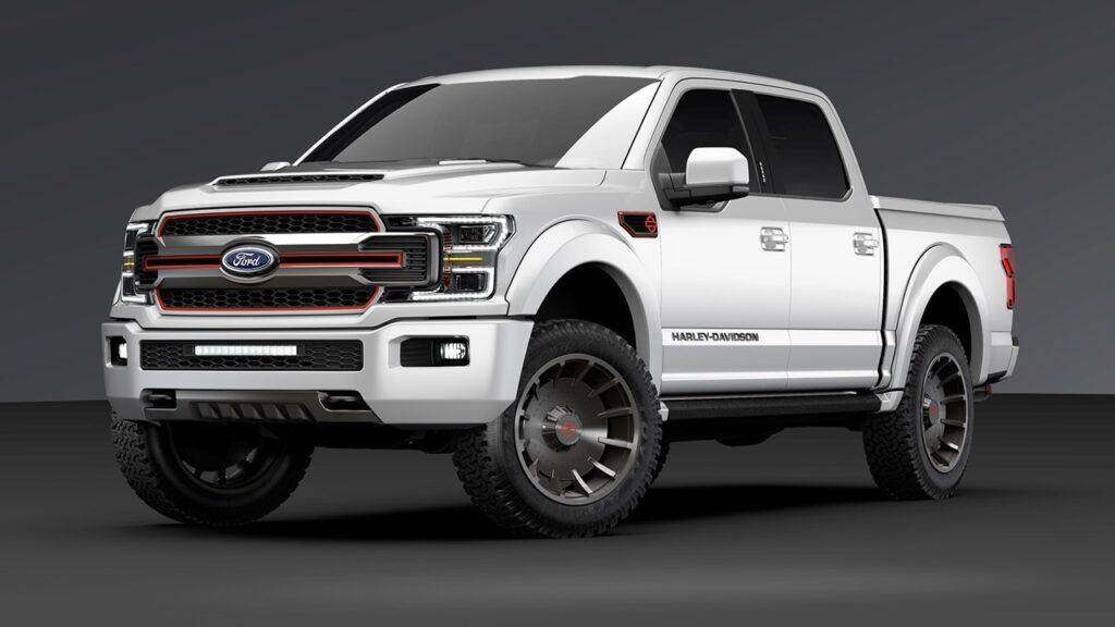 Harley Davidson Truck Platinum White con cerchi neri